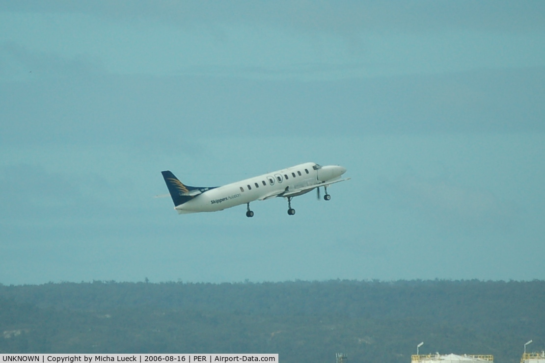 UNKNOWN, Airliners Various C/N Unknown, Fairchild Metro of Skippers Aviation climbing out of Perth