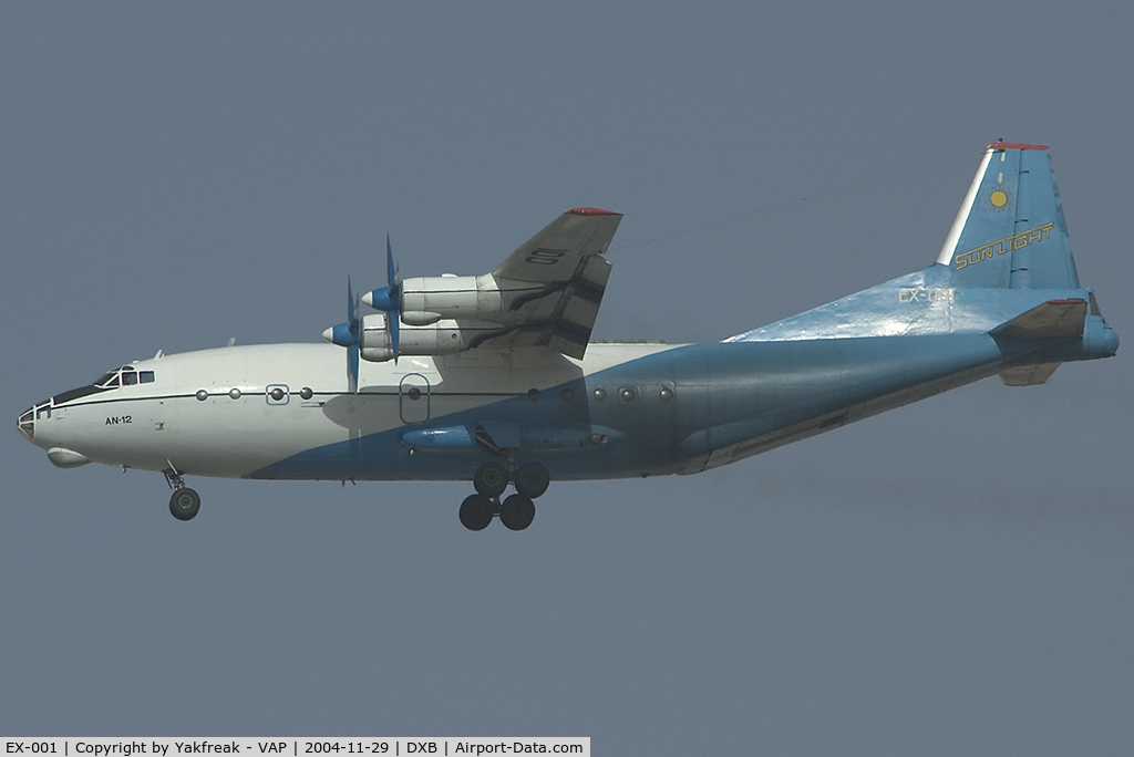 EX-001, Antonov An-12BP C/N 5343606, Sun Light Antonov 12