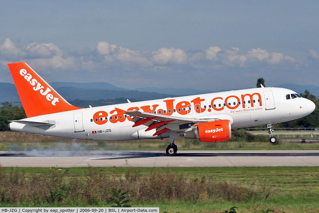 HB-JZG, 2004 Airbus A319-111 C/N 2196, landing on runway 16