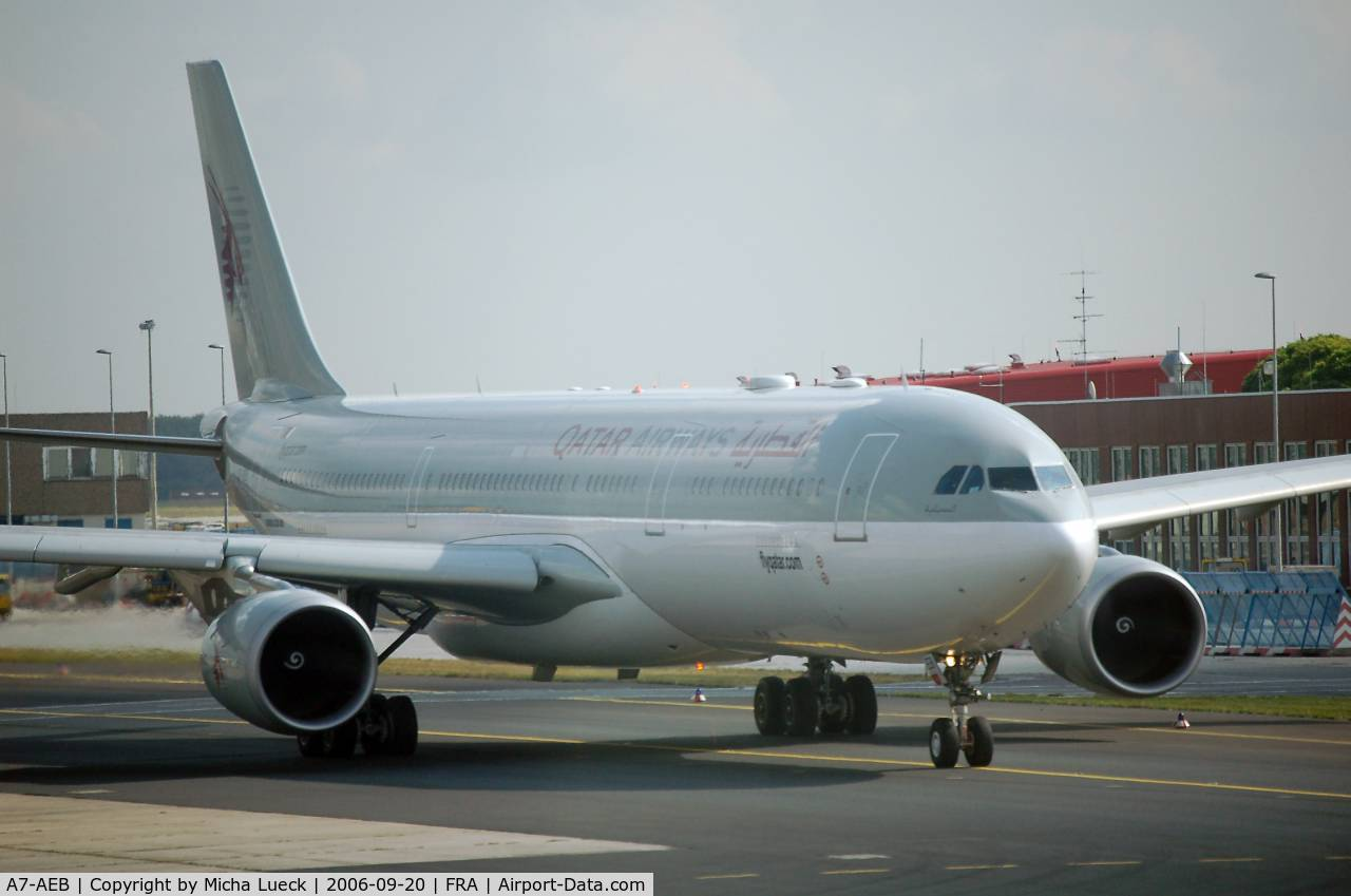A7-AEB, 2004 Airbus A330-302 C/N 637, Qatar is one of the Middle East shooting stars in the skies