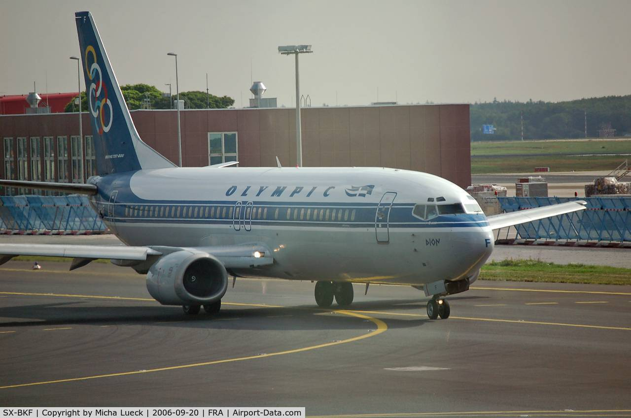SX-BKF, 1991 Boeing 737-484 C/N 25430, Taxiing to the runway for take-off