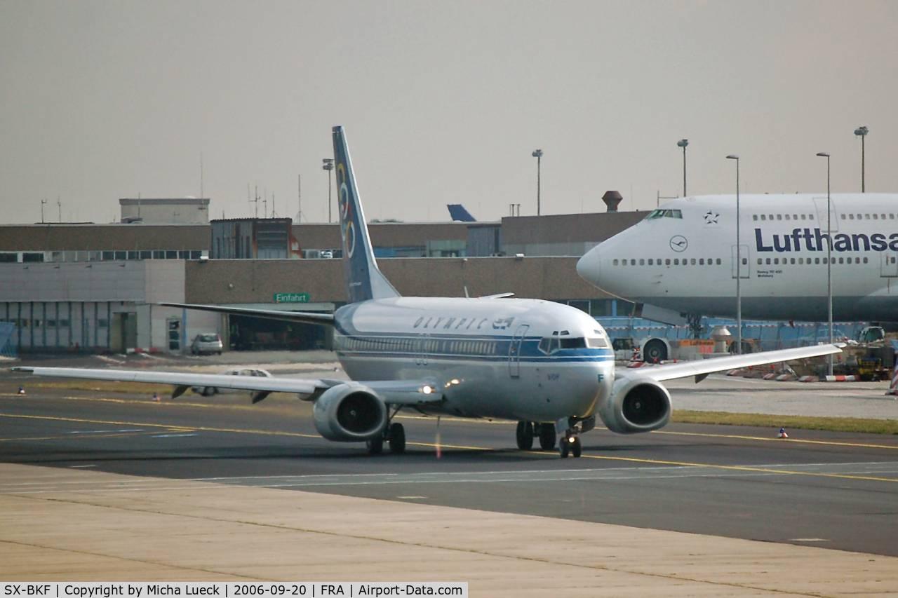 SX-BKF, 1991 Boeing 737-484 C/N 25430, Taxiing in Frankfurt