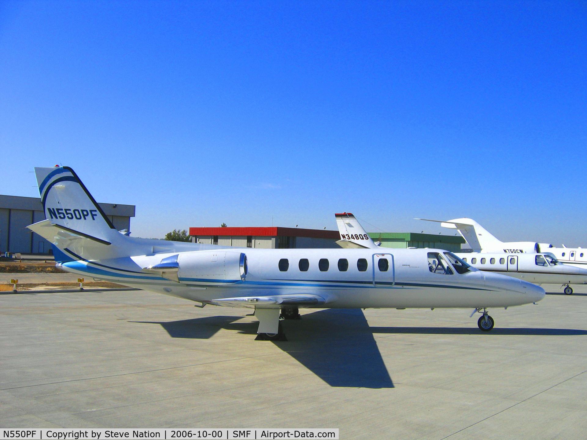 N550PF, 1982 Cessna 550 C/N 550-0428, Chancellor Services Inc. (Grants Pass, OR) 1982 Cessna 550 @ Sacramento Metro Airport, CA