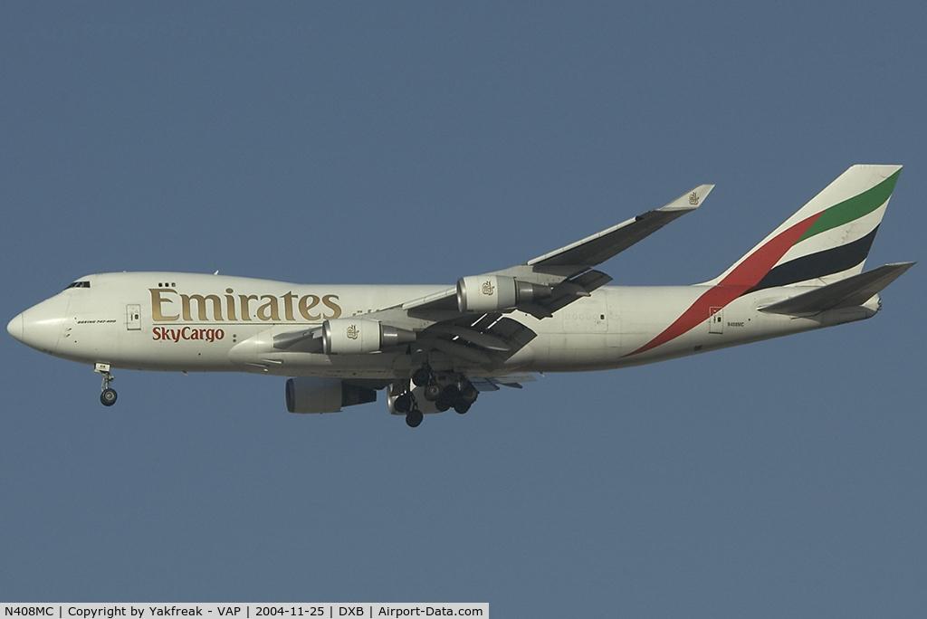 N408MC, 1998 Boeing 747-47UF C/N 29261/1192, Emirates Boeing 747-400F