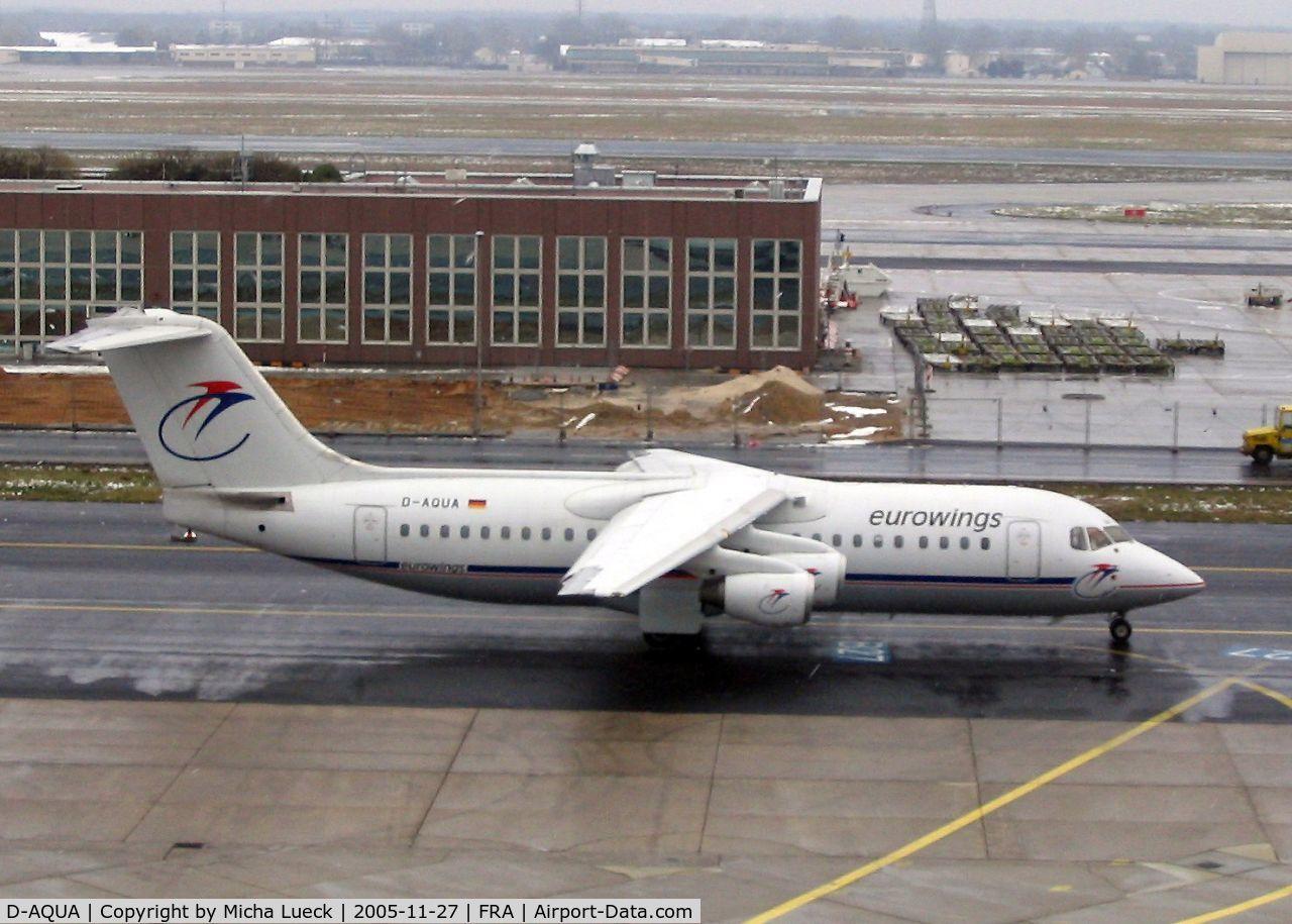 D-AQUA, 1988 British Aerospace BAe.146-300A C/N E3118, Taxiing to the runway