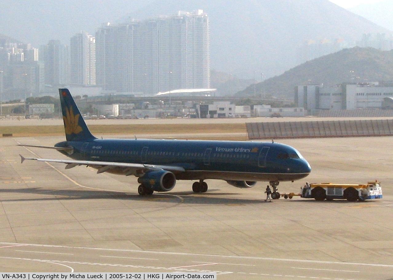 VN-A343, 1999 Airbus A321-211 C/N 956, Push-back