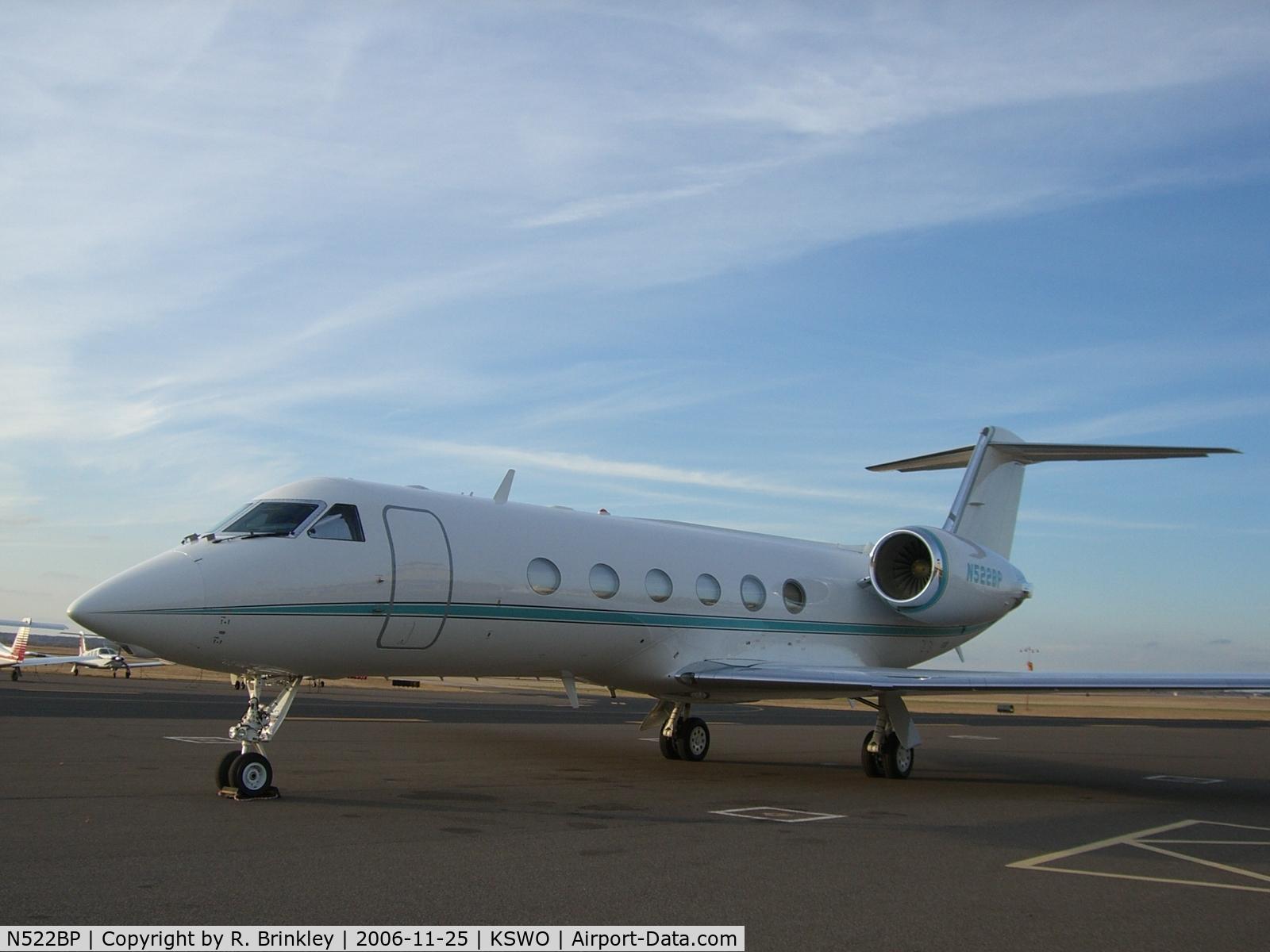 N522BP, 2006 Gulfstream Aerospace GV-SP (G550) C/N 5135, T. Boone Pickens' G-IV @ KSWO for OU-OSU game