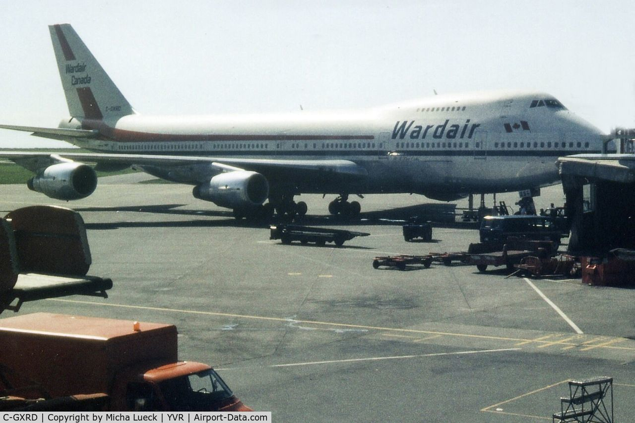 C-GXRD, 1979 Boeing 747-211B C/N 21517, Parked at Vancouver's International terminal