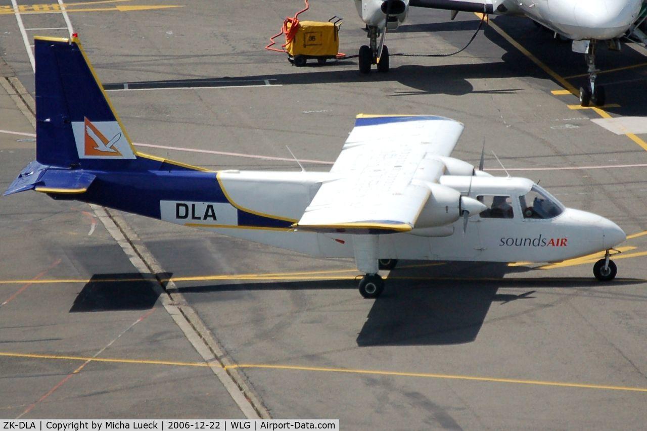 ZK-DLA, Pilatus Britten-Norman BN-2B-26 Islander C/N 2131, Taxiing to the gate