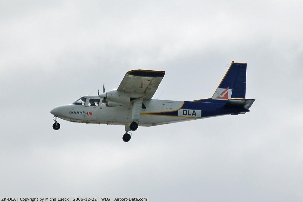 ZK-DLA, Pilatus Britten-Norman BN-2B-26 Islander C/N 2131, Climbing out of Wellington