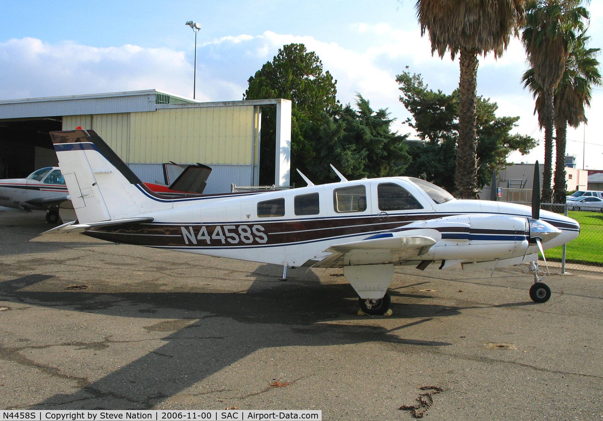 N4458S, 1976 Beech 58P Baron C/N TJ-58, 1976 Beech 58P Baron @ Sacramento Exec Airport, CA