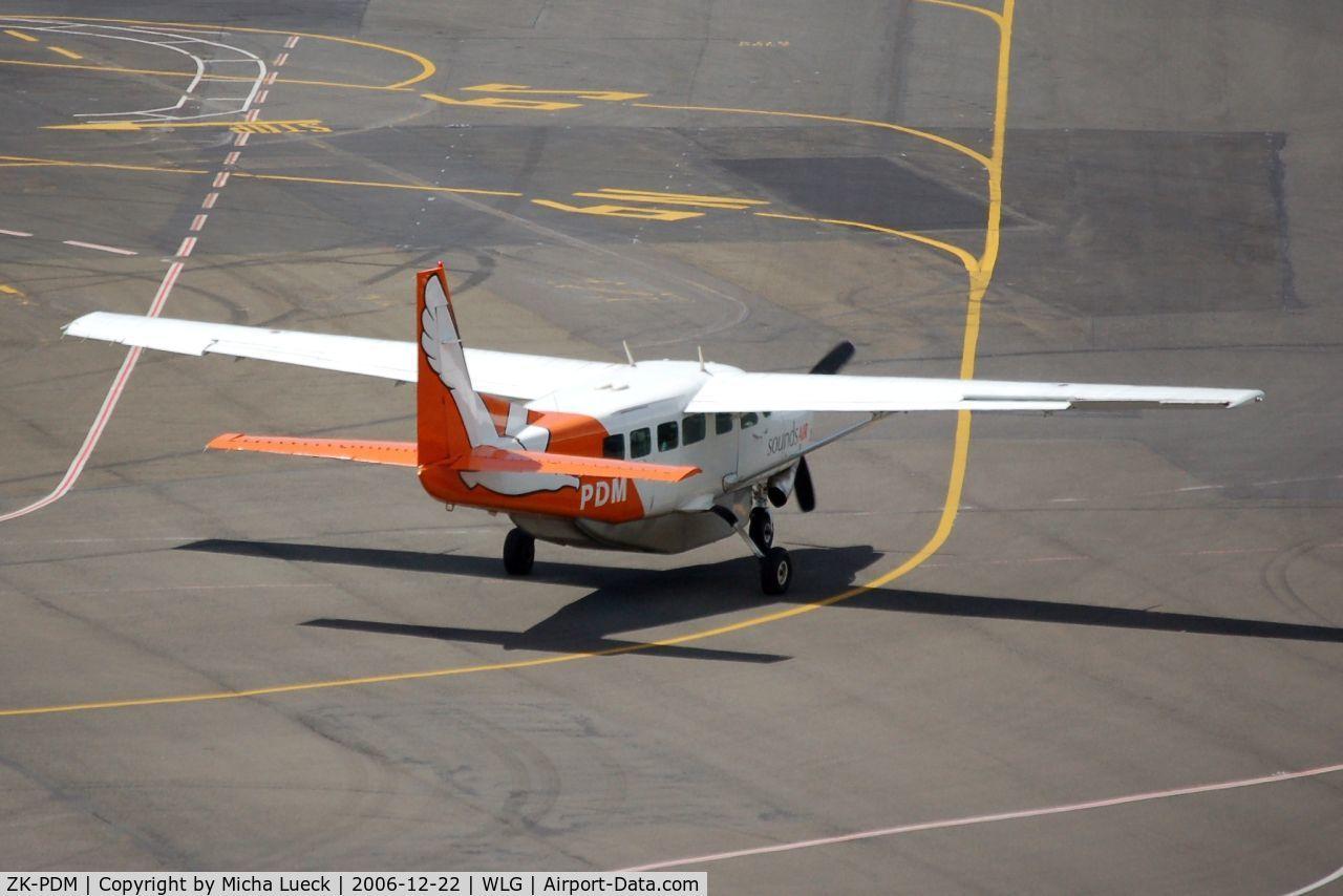 ZK-PDM, Cessna 208 Caravan 1 C/N 20800240, Sounds Air operates flights across Malborough Sounds