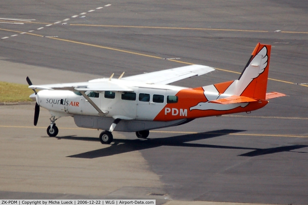 ZK-PDM, Cessna 208 Caravan 1 C/N 20800240, Sounds Air operates flights across Malborough Sounds