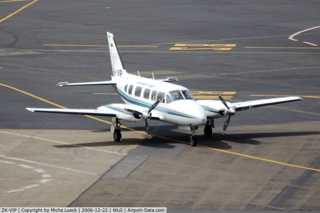 ZK-VIP, Piper PA-31-350 Chieftain C/N 31-7405482, Just arrived in Wellington