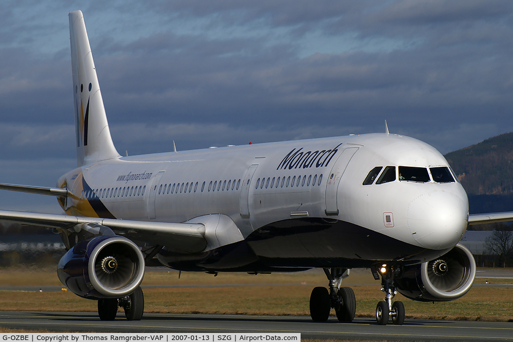G-OZBE, 2002 Airbus A321-231 C/N 1707, Monarch Airlines A321