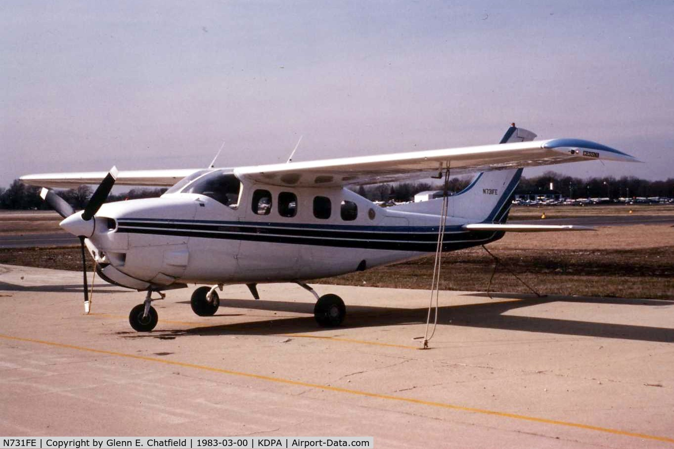 N731FE, 1979 Cessna P210N Pressurised Centurion C/N P21000450, Photo taken for aircraft recognition training