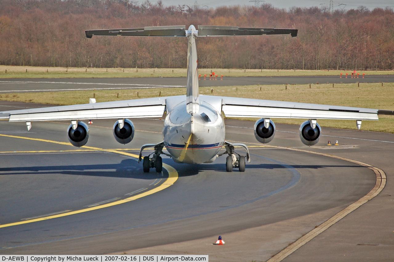 D-AEWB, 1990 British Aerospace BAe.146-300 C/N E3183, Turning onto the runway for take off