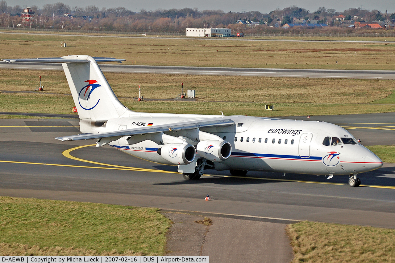 D-AEWB, 1990 British Aerospace BAe.146-300 C/N E3183, Taxiing to the runway
