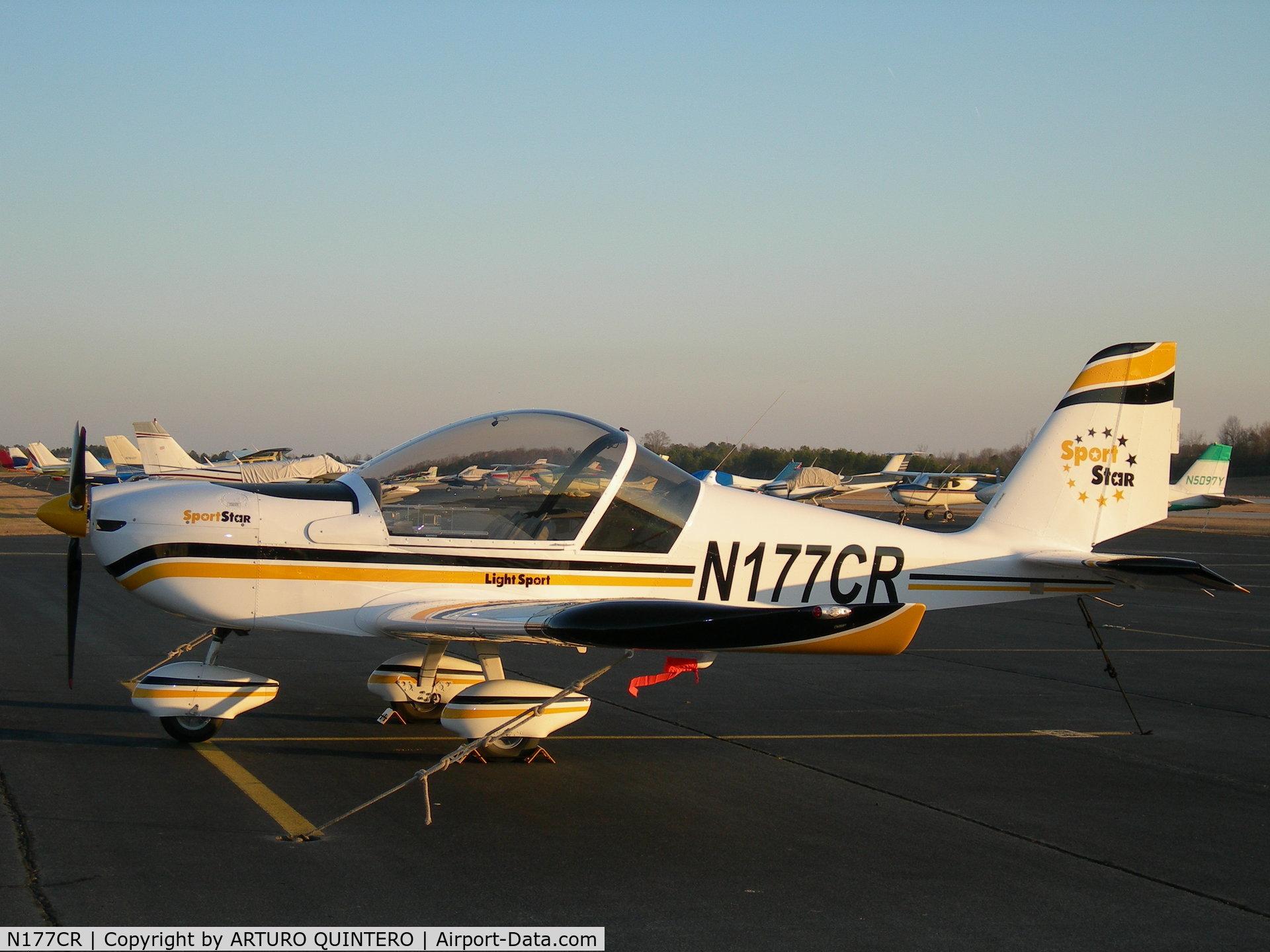 N177CR, 2006 Evektor-Aerotechnik SPORTSTAR C/N 20060611, PARKED AT RAMP