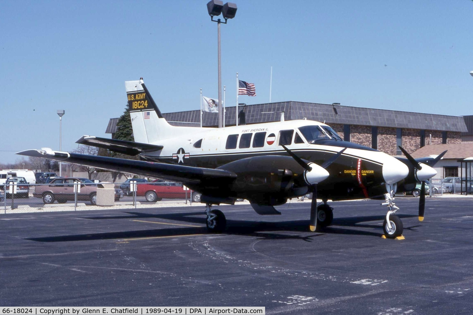 66-18024, Beech 65-A90-1 C/N LM-25, When still active as U-21A 66-18024
