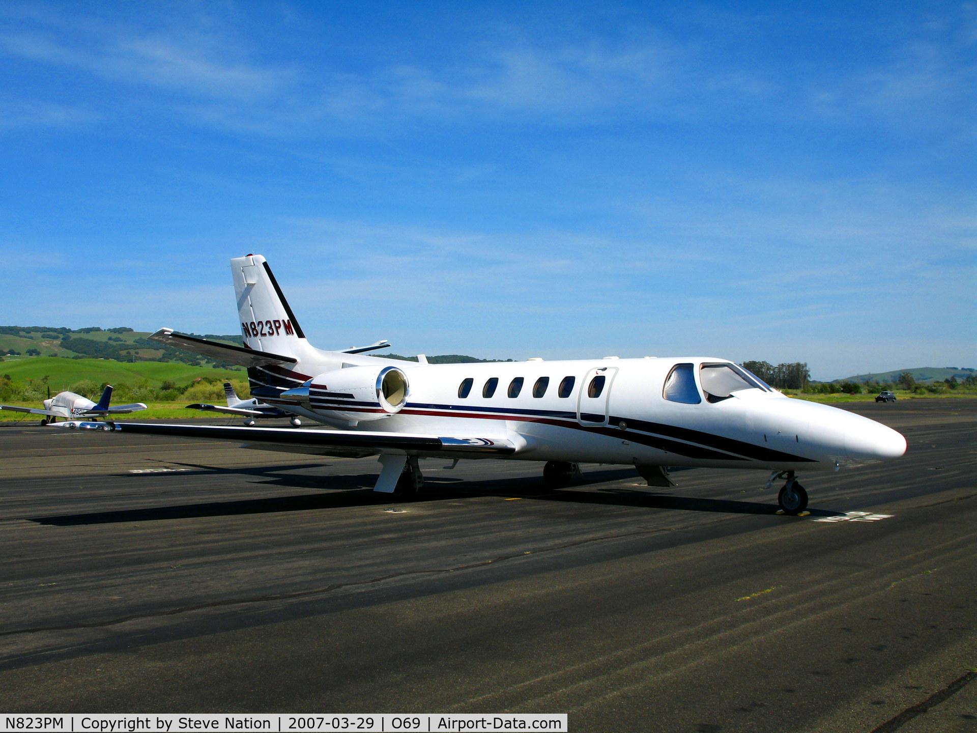 N823PM, 2003 Cessna 550 C/N 550-1064, TBN Group 2003 Cessna 550 @ Petaluma, CA