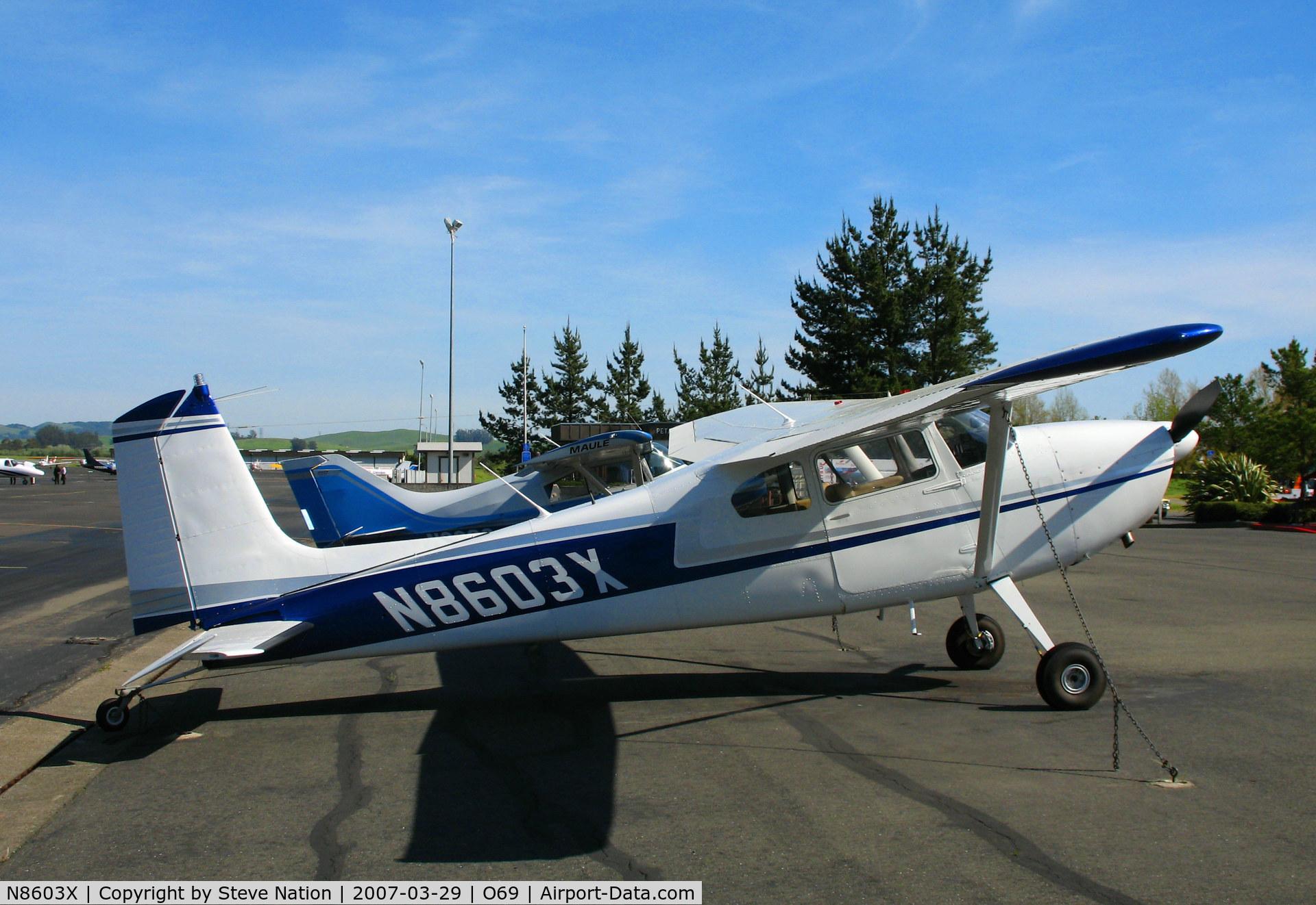 N8603X, 1961 Cessna 180D C/N 18051003, 1961 Cessna 180D @ Petaluma, CA