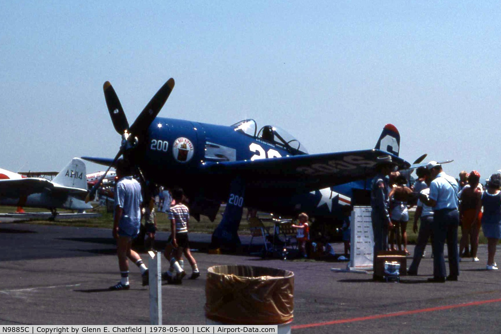 N9885C, Grumman F8F-2 (G58) Bearcat C/N D.1125, F8F-2 121751 at Rickenbacker AFB airshow