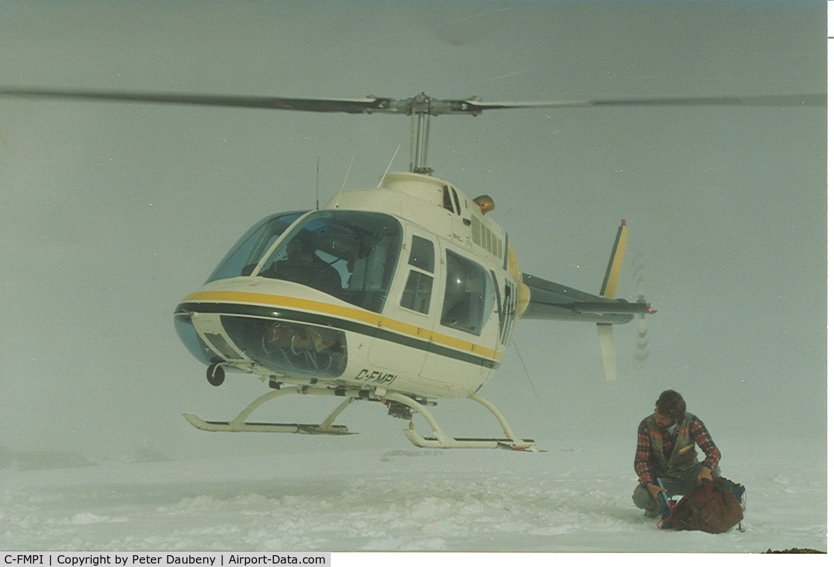 C-FMPI, 1973 Bell 206B JetRanger II C/N 978, Photo taken near Stewart BC, summer 1990