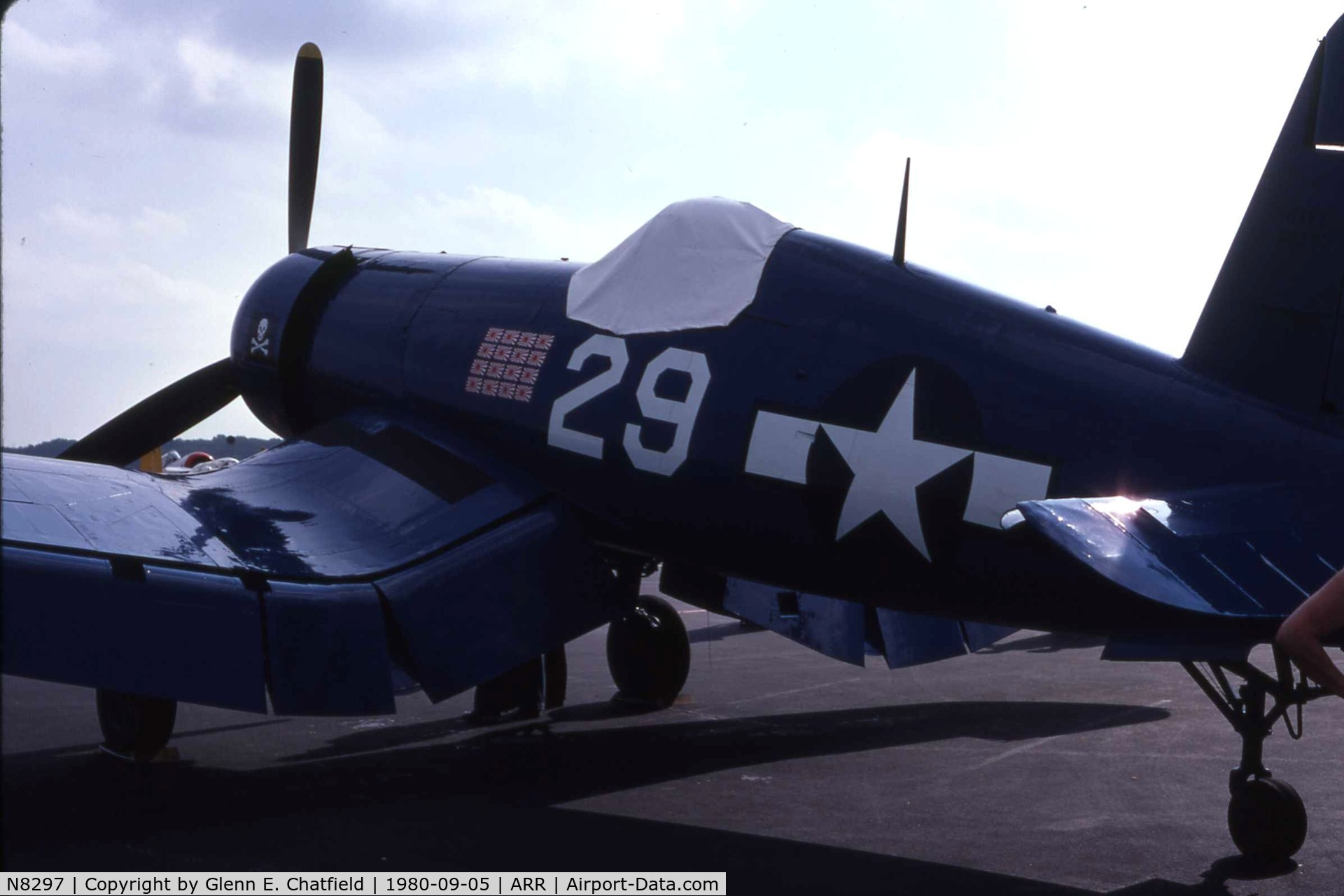 N8297, 1945 Goodyear FG-1D Corsair C/N 3111, Old paint scheme when still N8297