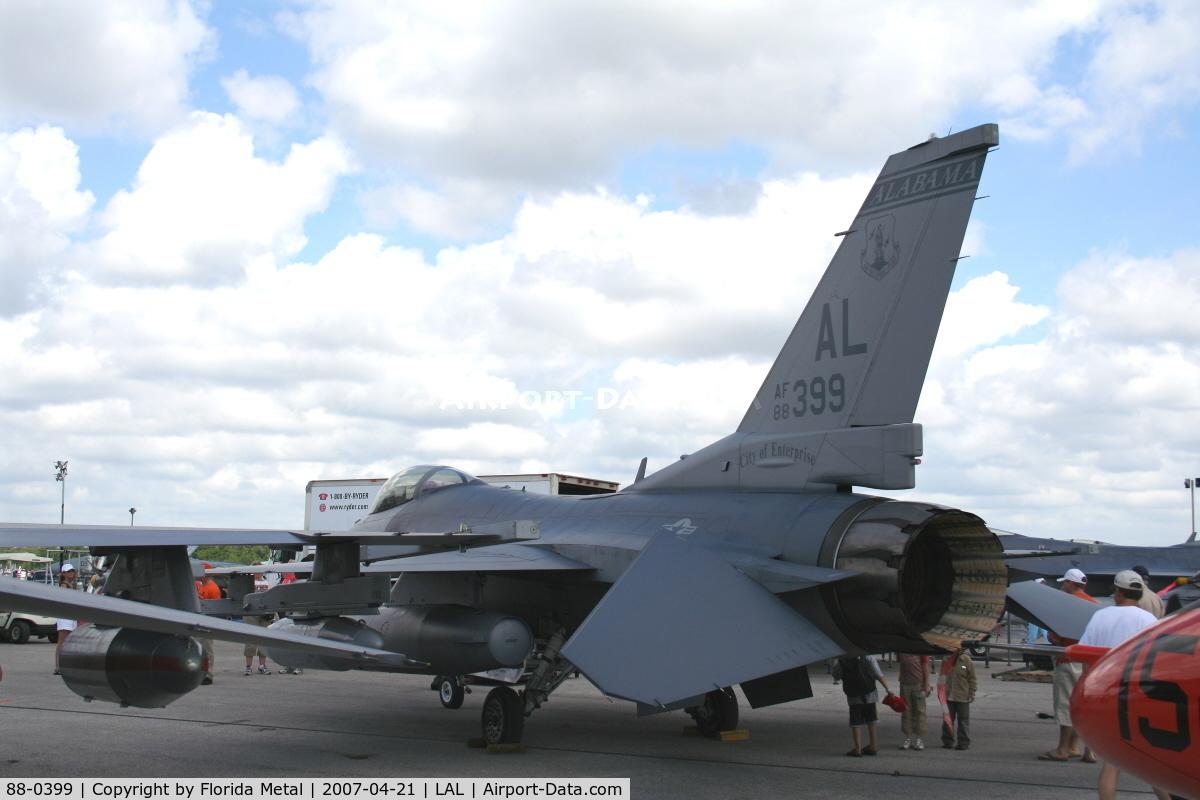 88-0399, 1988 General Dynamics F-16C Fighting Falcon C/N 5C-613, F-16