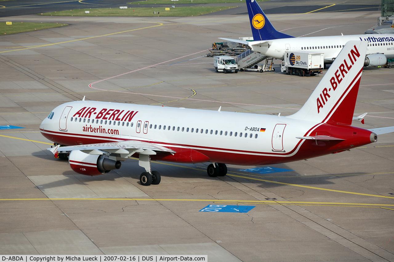D-ABDA, 2005 Airbus A320-214 C/N 2539, Push-back