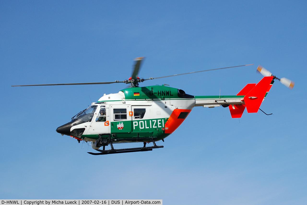 D-HNWL, Eurocopter-Kawasaki BK-117A-3 C/N 7212, At Düsseldorf airport