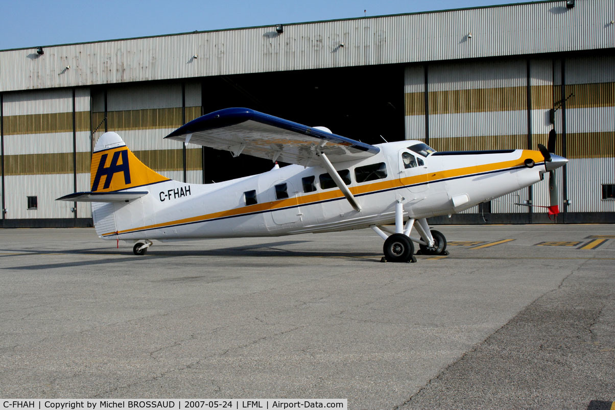 C-FHAH, De Havilland Canada DHC-3T Vazar Turbine Otter C/N 406, picture very rarz at Marseille - France