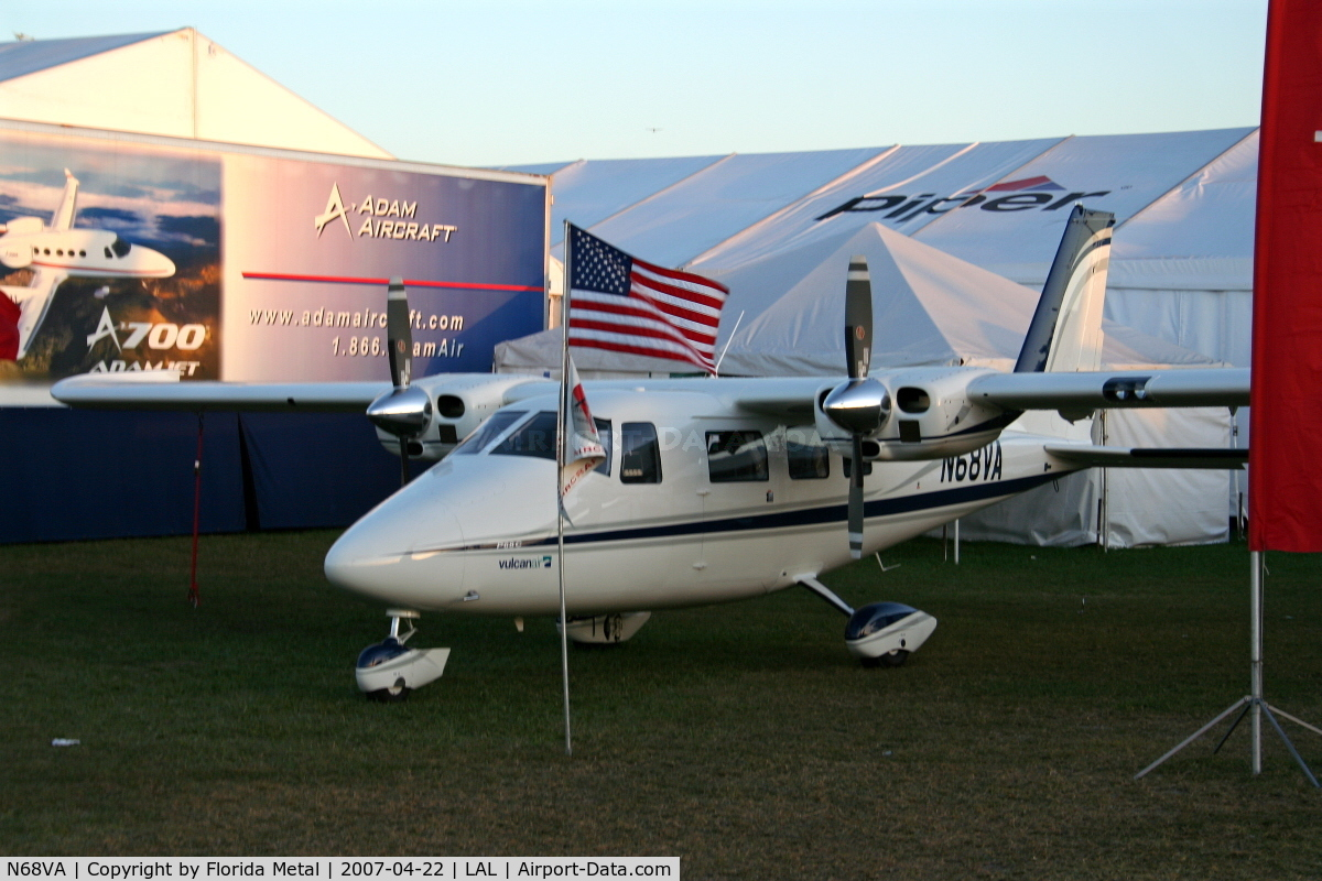 N68VA, 2007 Vulcanair P-68C C/N 440/C, P68