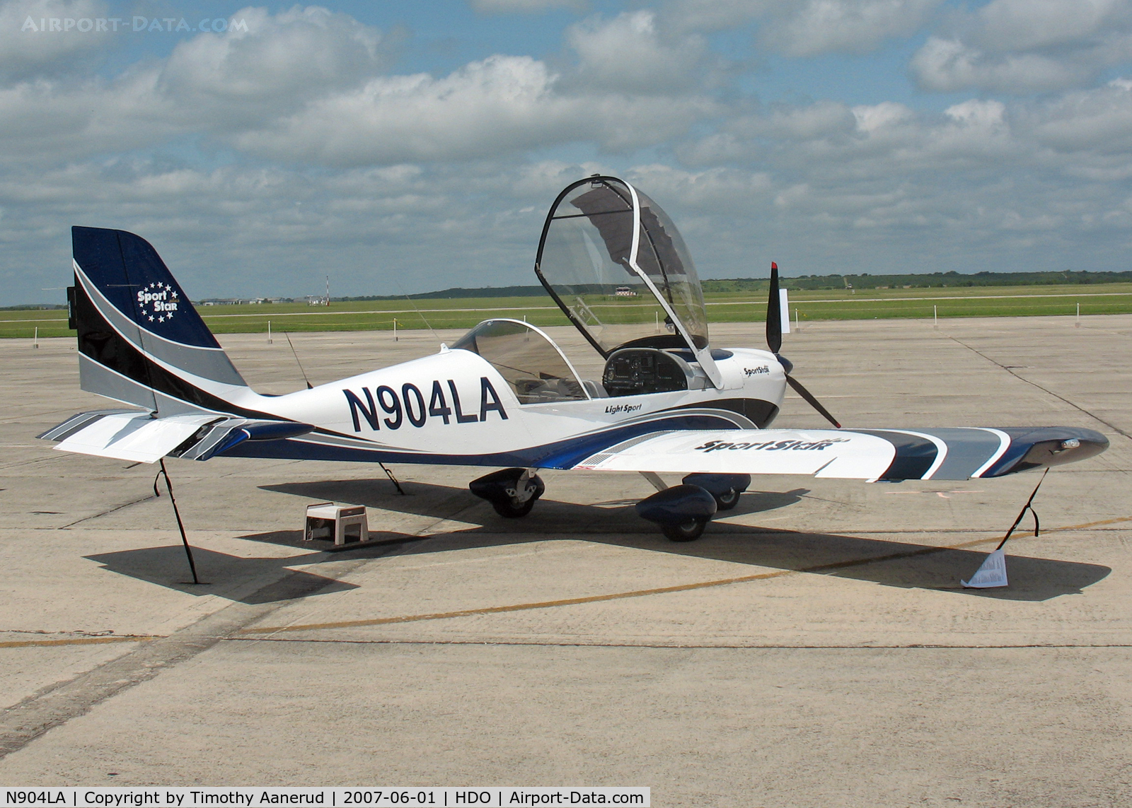 N904LA, 2007 Evektor-Aerotechnik Sportstar C/N 20070904, The EAA Texas Fly-In