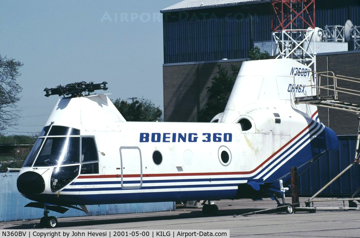 N360BV, 1987 Boeing Vertol 360 C/N 001, ATD CH-46X Program Demonstrator- all composite -WFU- after approx 78 TTAF / cracked pylons