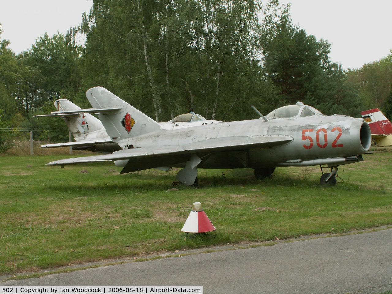 502, PZL-Mielec Lim-5 (MiG-17F) C/N 1C0902, Mikoyan-Gurevich Lim-5/Cottbus Museum-Brandenburg