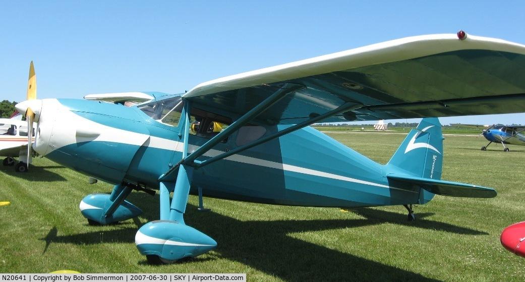 N20641, 1938 Fairchild 24 K C/N 3318, Fly-in at Sandusky, OH