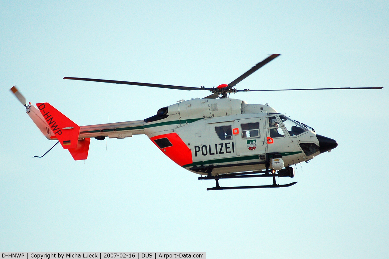 D-HNWP, Eurocopter-Kawasaki BK-117C-1 C/N 7553, At Düsseldorf airport