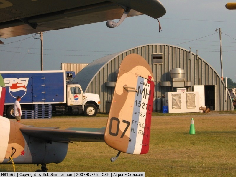 N81563, 1959 Max Holste MH-1521M Broussard C/N 192, Tail markings.  Airventure '07