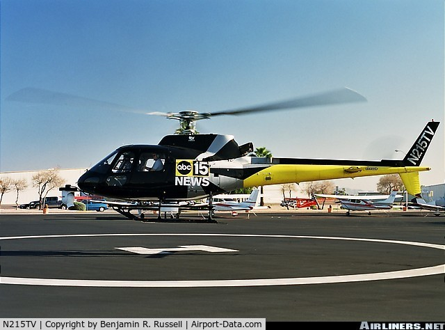 N215TV, 1998 Eurocopter AS-350B-2 C/N 3167, KNXV-TV Phoenix News Chopper15 before crash on 7/27/07