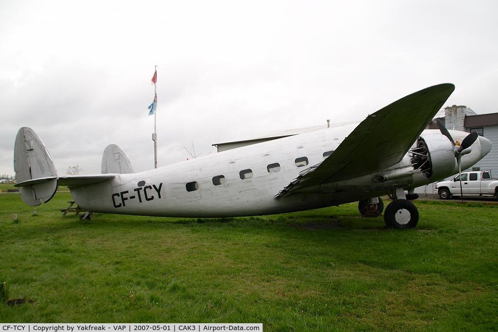 CF-TCY, Lockheed 18 Lodestar C/N 18-2064, Lockheed Loadstar