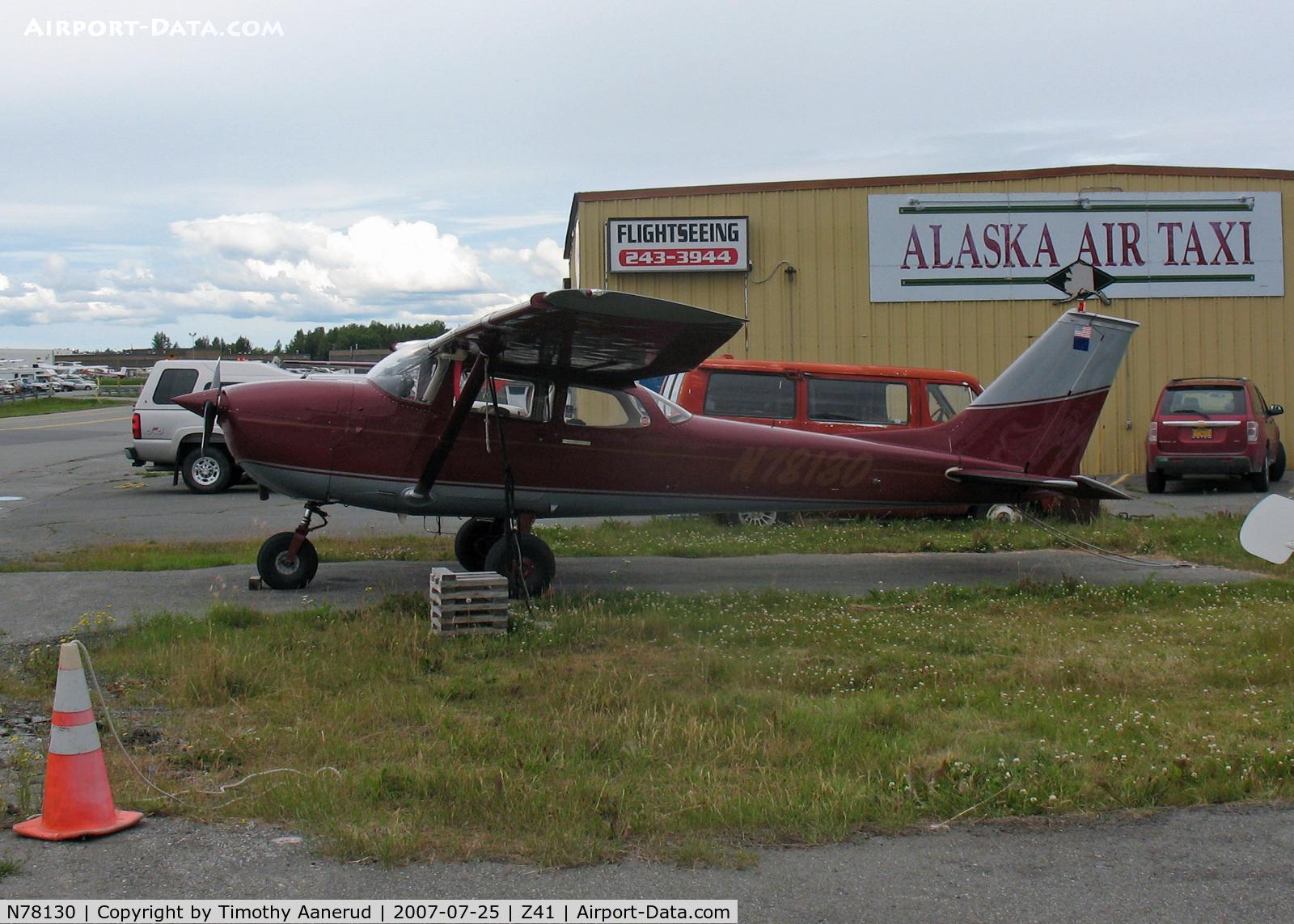 N78130, 1968 Cessna 172K Skyhawk C/N 17257493, Tied down by Lake Hood