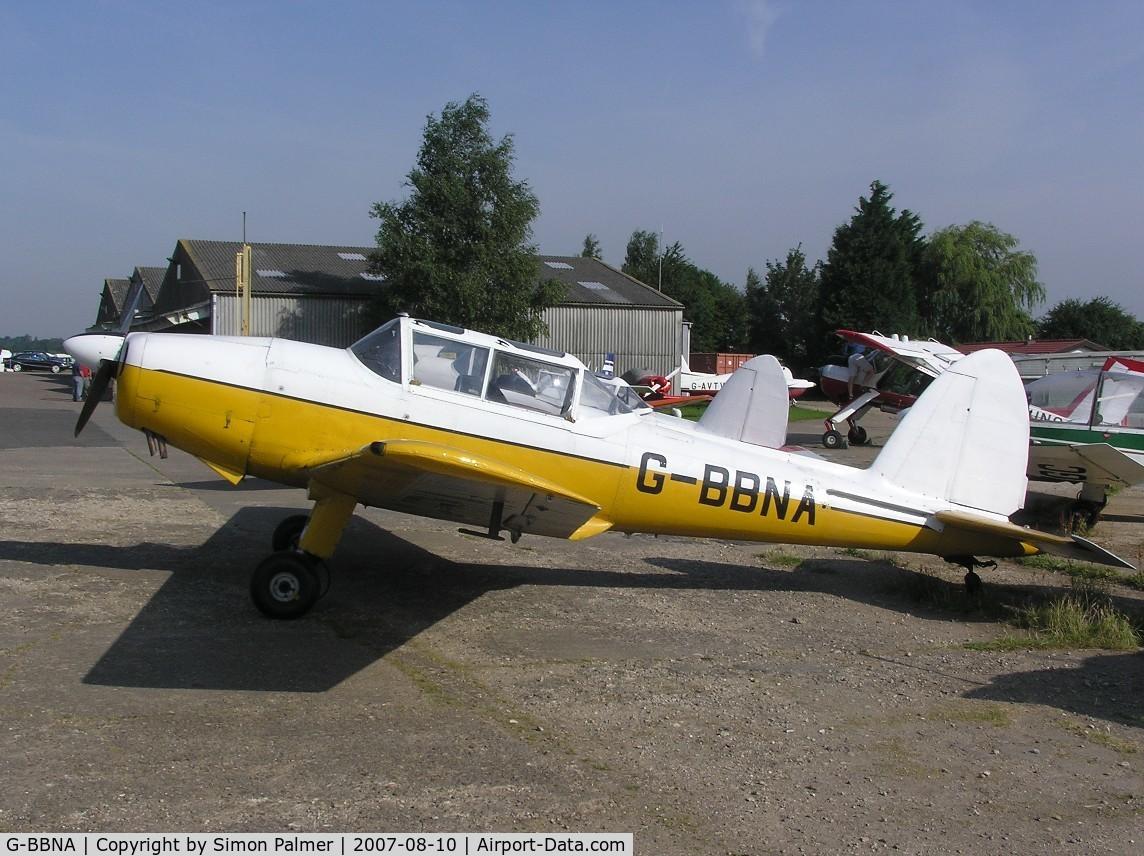 G-BBNA, 1953 De Havilland DHC-1 Chipmunk 22 (Lycoming) C/N C1/0491, Lycoming Chipmunk tug at Husbands Bosworth