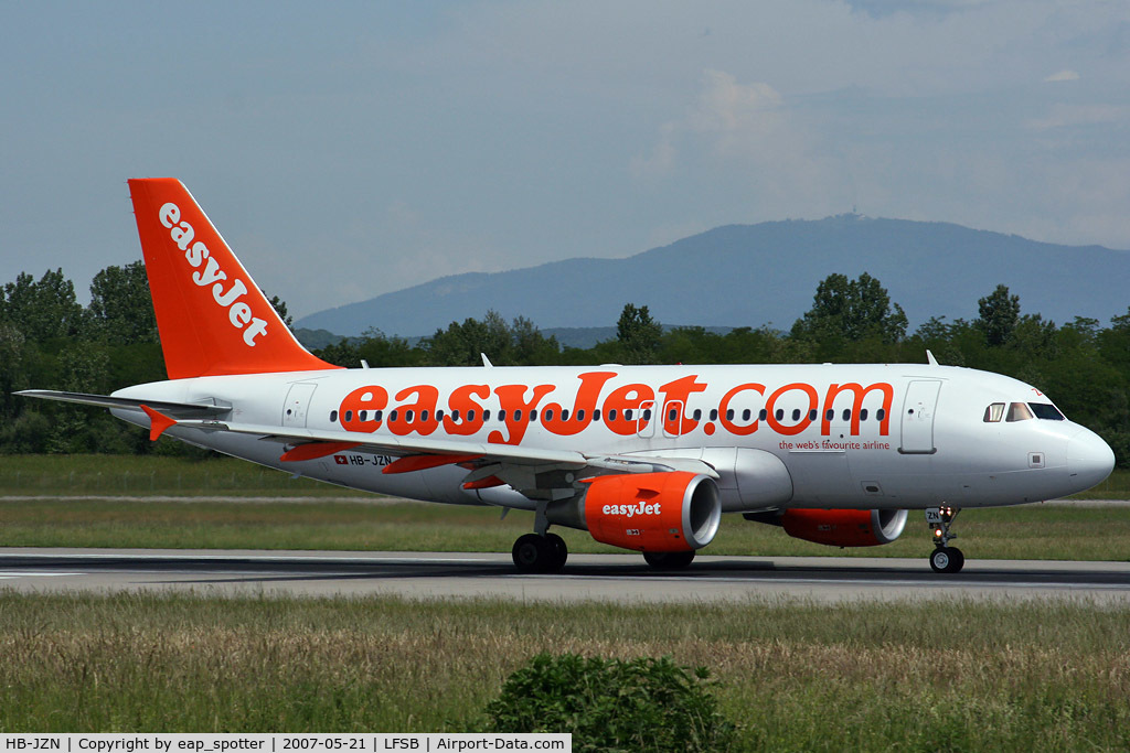 HB-JZN, 2005 Airbus A319-111 C/N 2387, Easyjet Switzerland