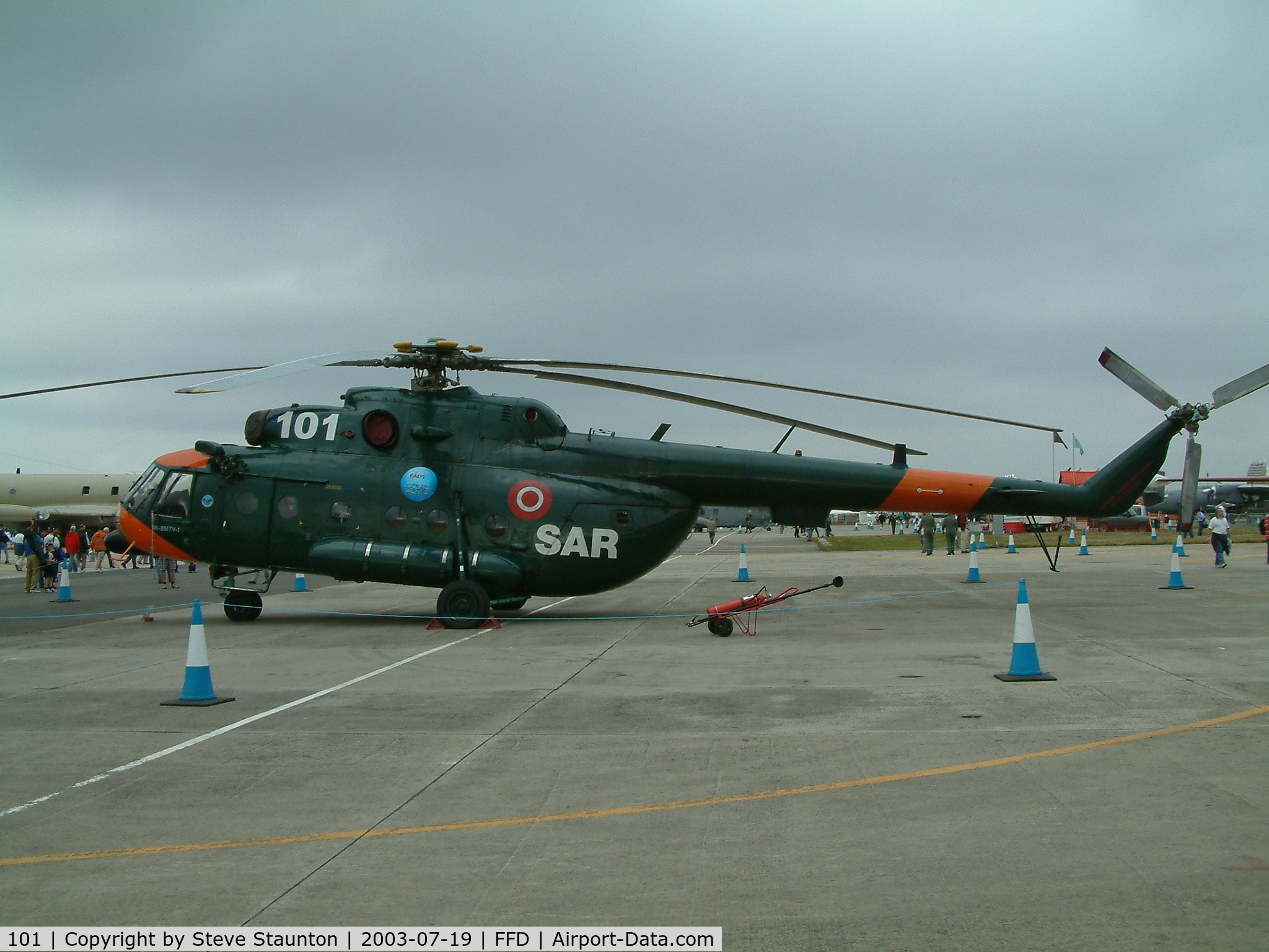 101, Mil Mi-8MTV-1 C/N 95578, Royal International Air Tattoo 2003