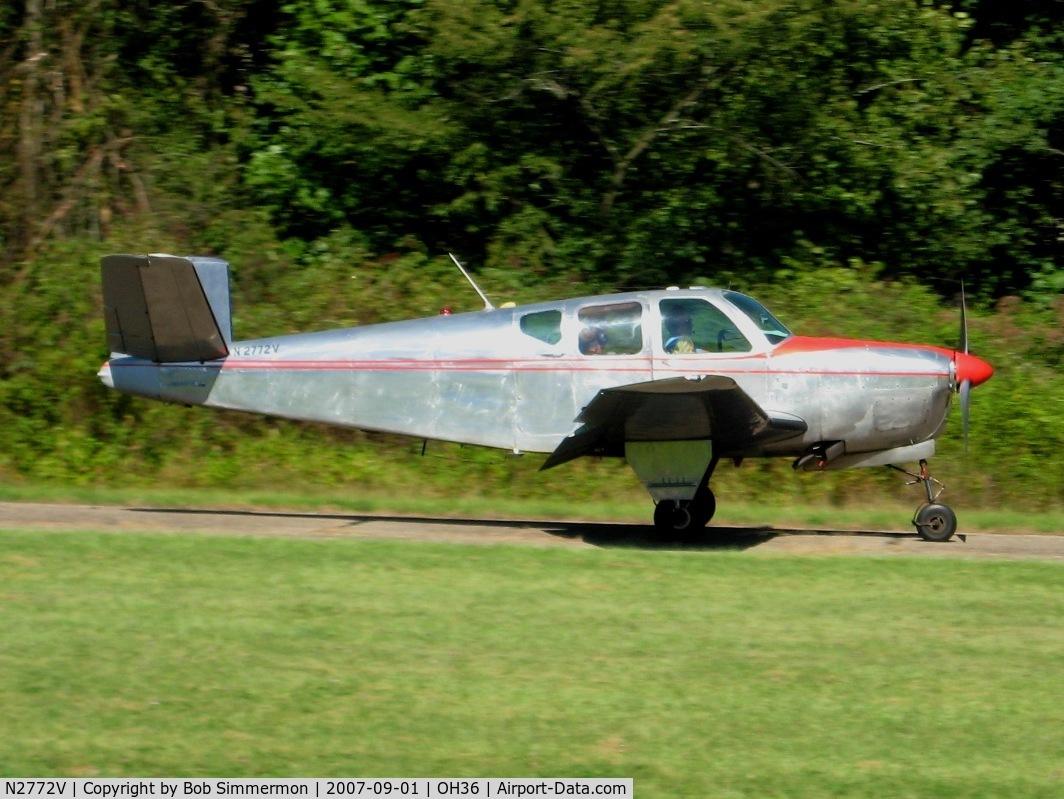 N2772V, 1947 Beech 35 Bonanza C/N D-164, Breakfast fly-in at Zanesville, OH (Riverside)