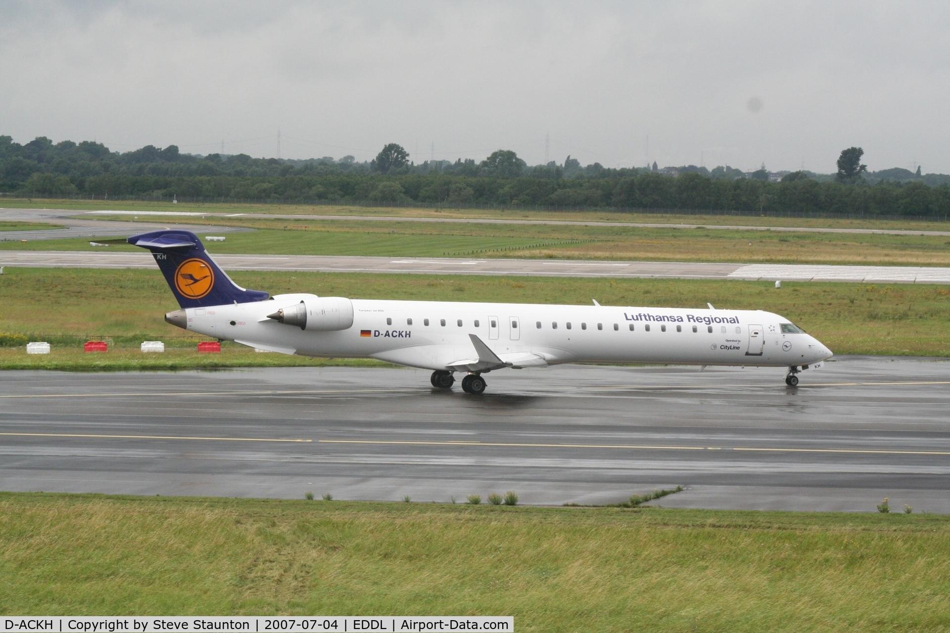 D-ACKH, 2006 Bombardier CRJ-900LR (CL-600-2D24) C/N 15085, Taken at Dusseldorf July 2007