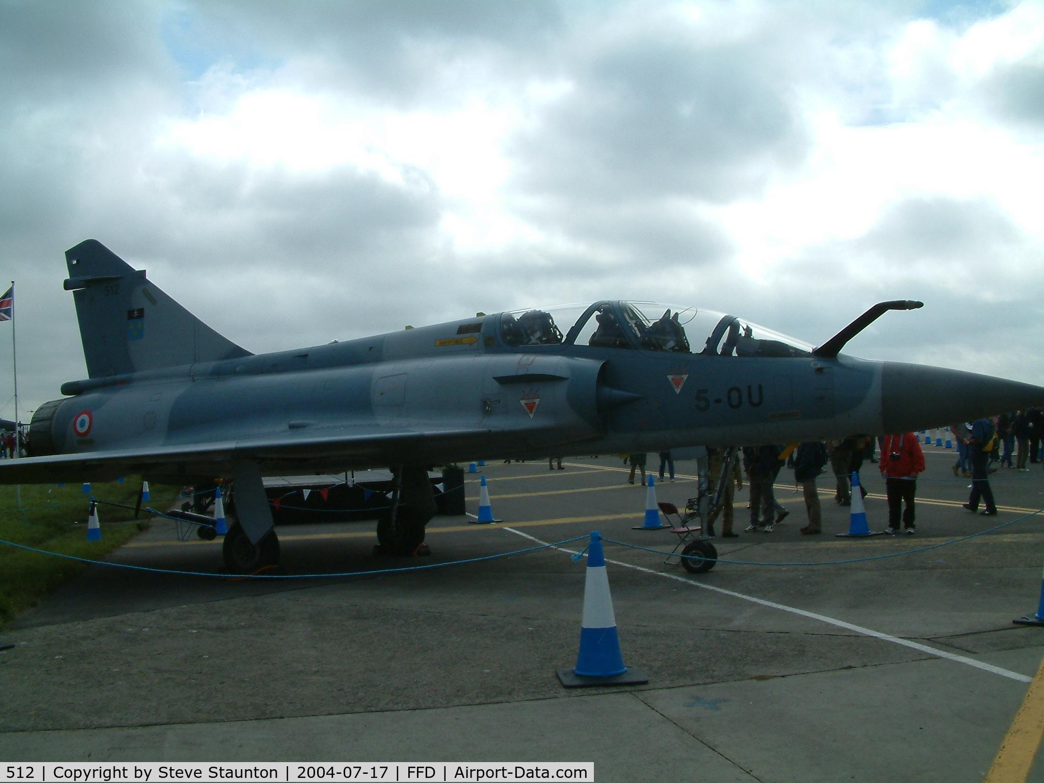512, Dassault Mirage 2000B C/N 145, Royal International Air Tattoo 2004