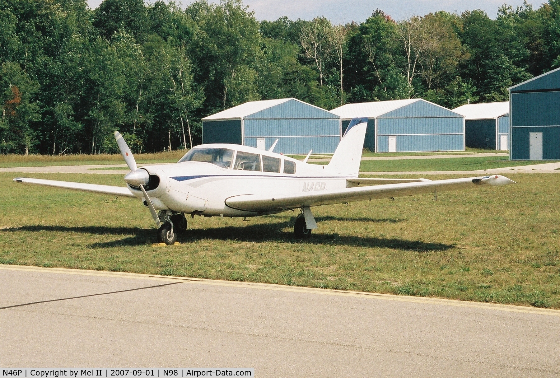 N46P, 1966 Piper PA-24-260 Comanche B C/N 24-4470, Parked @ Boyne City Municipal Airport (N98)